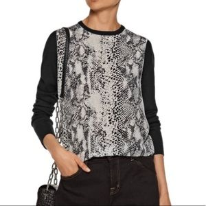 Equipment Femme Roland Snake Panel Wool Sweater S